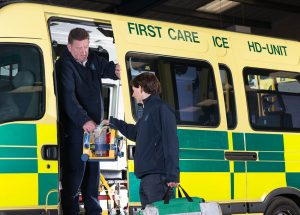 Paramedic HD Patient Transport First Care Ambulance